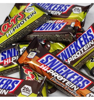 Snickers and Mars Protein Bars