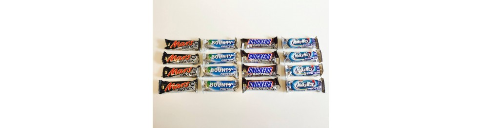 Mars/Snickers/Bounty/Milky Way/Yorkie Protein bars